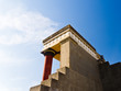 Rear view of Minoan palace at Knossos