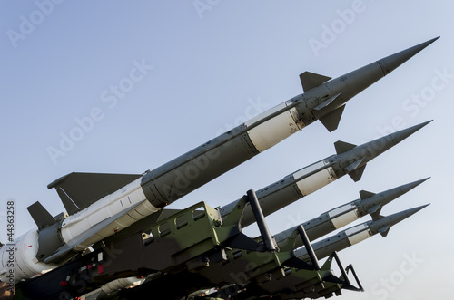 Leinwanddruck Bild Air force missile system