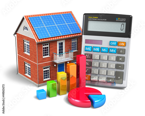Home finances concept