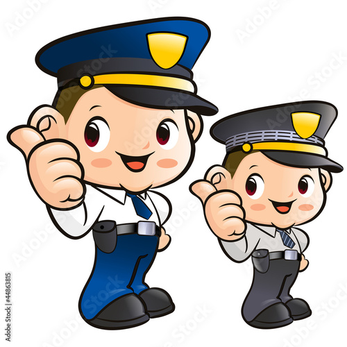 Friendly Police Officer Character