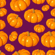 Seamless pattern with pumpkins. Vector illustration.