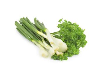 spring onion, parsley