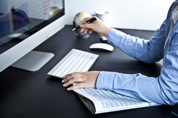 arbeit in büro (hände)
