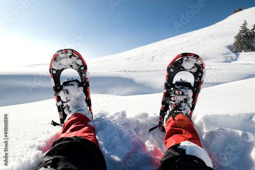 canvas print picture Schneeschuhe