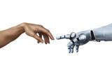 Michelangelo: Creation of Adam with Robot