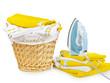 Laundry Basket and iron