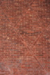 Red brick wall with diamond pattern