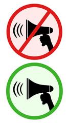Megaphone signs