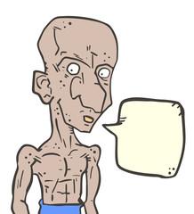 Man comic talking