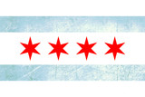 Grunge Chicago flag