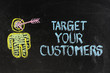 Target your customers, concept