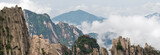 Image of  Huangshan (yellow mountain) and pine tree on the top