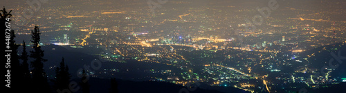 Night city of Almaty
