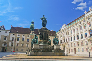 The angle of a historic building in Vienna.