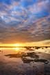 Coraux émergeant au crépuscule - La Réunion