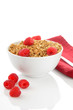 Granola with fresh respberries