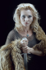 Valkyrie.Viking girl with sword