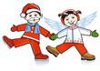 Kleiner Weihnachtsmann und Engel
