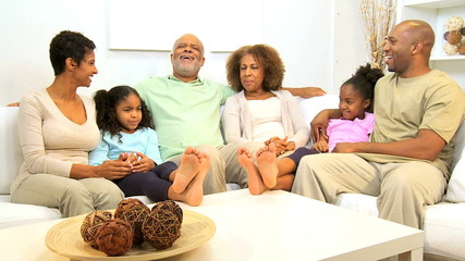 Three Generations African American Family Leisure
