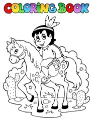 Coloring book Indian theme image 1