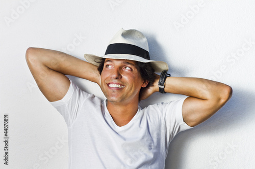 handsome man with hat