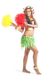 Young hula dancer