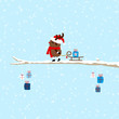 Rudolph Pulling Sleigh With Gift On Tree