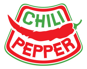 chili pepper label
