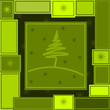 cartolina natalizia verde