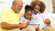 Ethnic Grandparents Granddaughter Wireless Tablet Home
