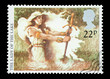 UK mail stamp featuring the Lady Of The Lake, circa 1985