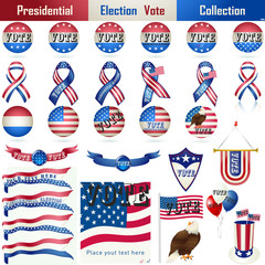 Presidential Election Vote Sign Collection