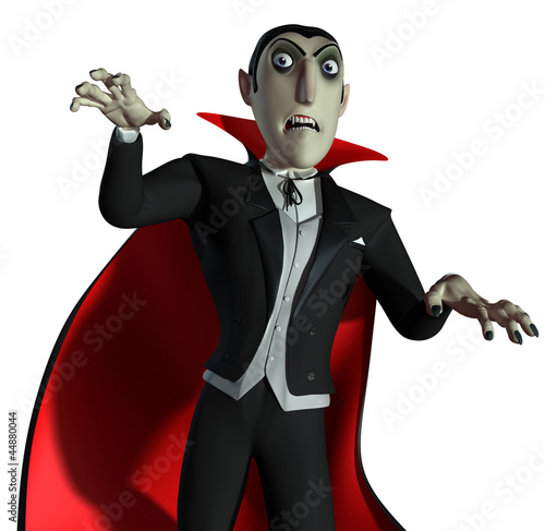 Deurstickers Sweet Monsters Count Dracula