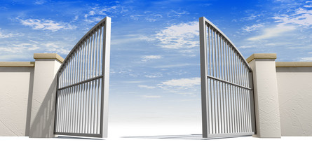 Open Gates And Wall
