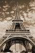 Sepia Eiffel tower