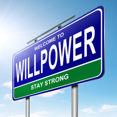 Willpower concept.