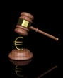 3d Judge's Gavel with euro design
