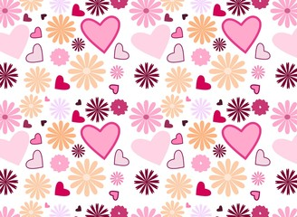 Floral and heartr background