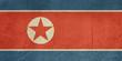 Grunge North Korea flag