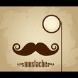 Vector hipster mustache and monocle