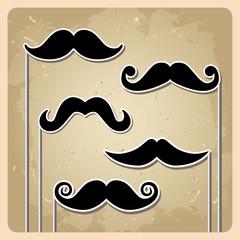 Vector hipster mustache