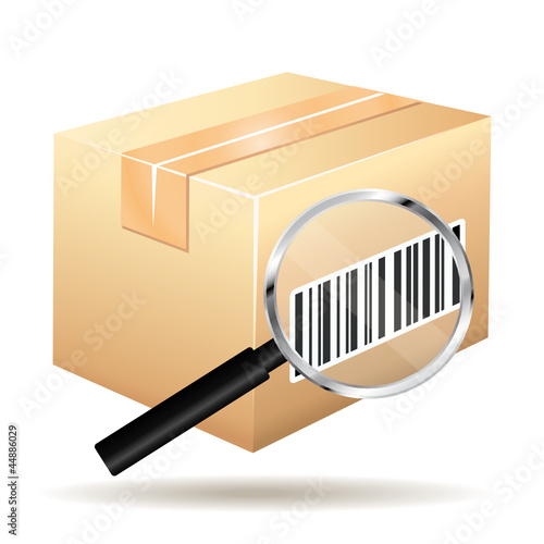 Tracking parcel icon.