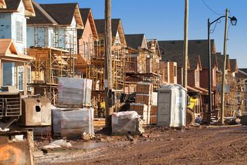 Suburban housing under construction