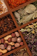 Spicy Spices in Wooden Box