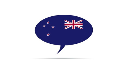 New Zealand Flag Speech Bubble