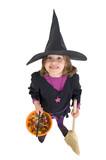 Mädchen zu Halloween