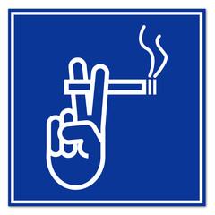 Cartel zona de fumadores