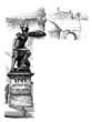 Antique Rome - Warrior Statue - Page Ornament