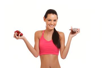 health concept - brunette teenager demonstrating temptation