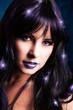 Portrait einer schwarzhaarigen Halloween-Schönheit